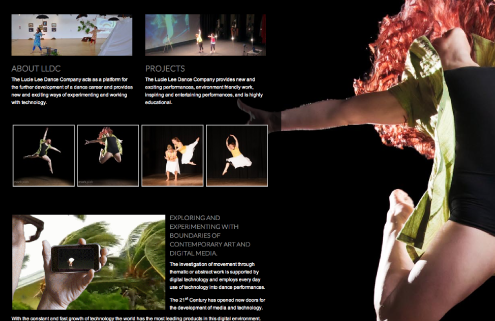 Lucie Lee Dance Company Web Design