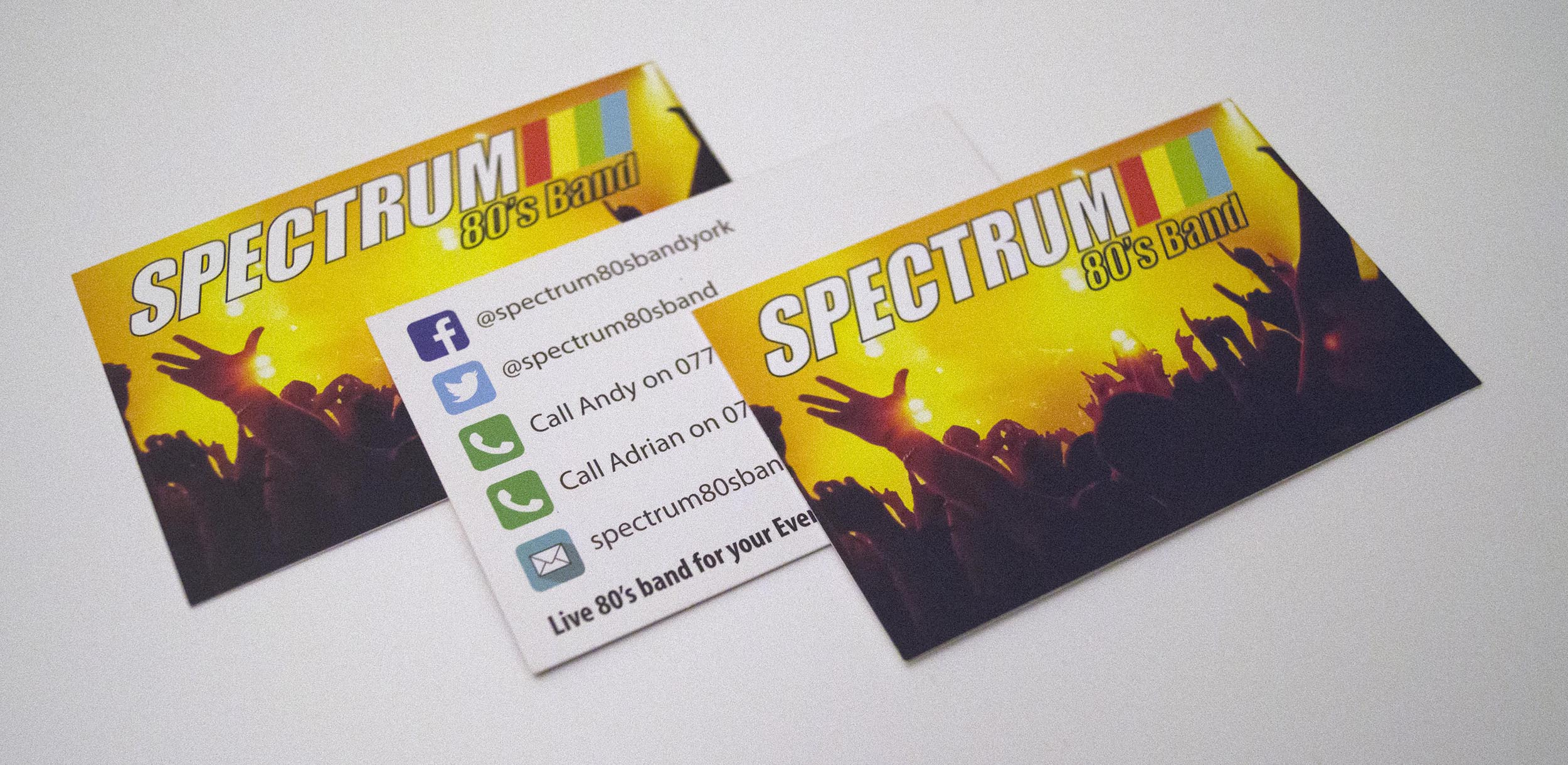 Spectrum 80's Band Business Cards
