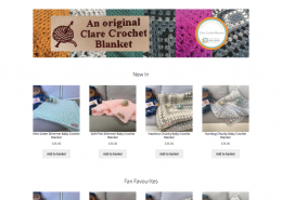 Clare Crochet Blankets Ecommerce Site