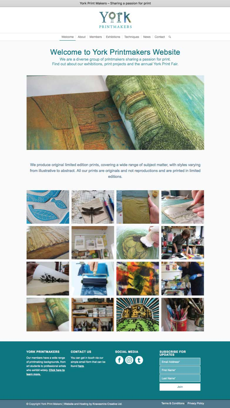 York Printmakers Website Upgrade