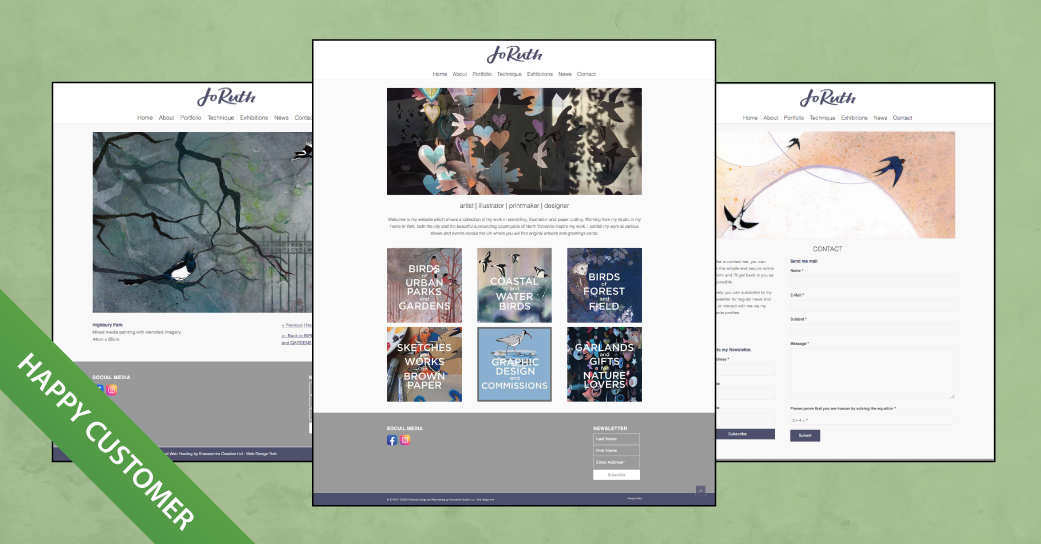 Jo Ruth Website Design